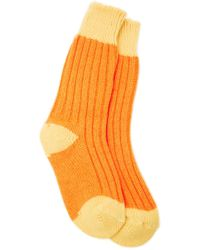 The Elder Statesman - Yosemite Two-tone Ribbed Cashmere Socks - Lyst