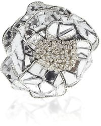 Balmain - Mirror Flower Brooch - Lyst