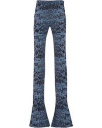 Roberto Cavalli - Croc Print Flared Pant - Lyst