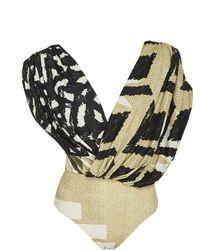 Lenny Niemeyer - Asymmetric Ruched One Piece Suit - Lyst
