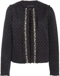 Needle & Thread - Quilted Satin Jacket - Lyst