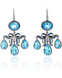 Holly Dyment - Girandole Blue Topaz Earrings - Lyst