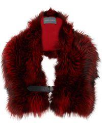 Alberta Ferretti - Silver Fox Fur Stole - Lyst