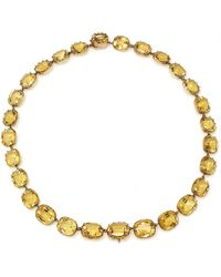 Fred Leighton - One-of-a-kind Antique Citrine Riviere Necklace, Circa 1880s - Lyst