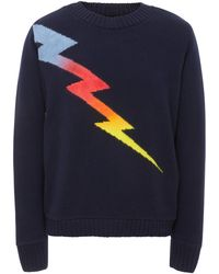 The Elder Statesman - Exclusive Lightning Intarsia Cashmere Sweater - Lyst
