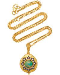 Arman Sarkisyan - 22k Gold, Opal And Diamond Necklace - Lyst