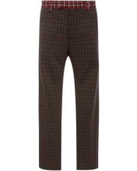Marni - Mixed Plaid Trousers - Lyst