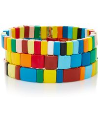 Roxanne Assoulin - Set-of-three Rainbow Stretch Bracelets - Lyst