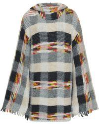 Missoni - Multi Check Baby Alpaca Dress - Lyst