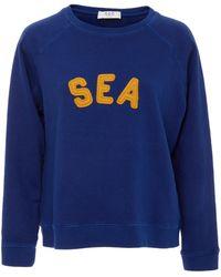 Sea - Felt Letter Sweatshirt - Lyst