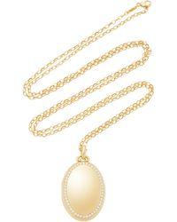 "Monica Rich Kosann - M'onogrammable 18k Yellow Gold And Diamond ""premier"" Four Image Locket On 32"" Chain - Lyst"