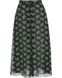 Anna Sui - Floral Reef Skirt - Lyst