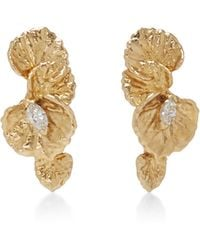 Jordan Askill - Leaf Diamond Earrings - Lyst