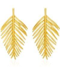 Oscar de la Renta | Palm Leaf Earring | Lyst