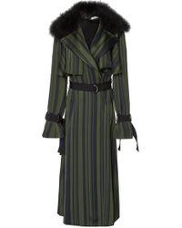 ADEAM - Ruffle Robe Trench Coat - Lyst