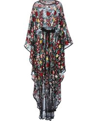 Zuhair Murad - Floral-embroidered Tulle Kaftan - Lyst