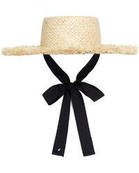 9e188e53cd77a0 Awesome Needs - Raffia Boater Hat - Lyst