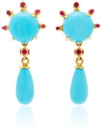 Paul Morelli - Turquoise Round Drop Earrings - Lyst