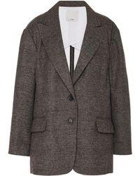 Tibi - Liam Tailored Single-breasted Twill Tuxedo Jacket - Lyst