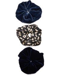 Jennifer Behr - M'o Exclusive Set Of 3 Velvet Scrunchies - Lyst