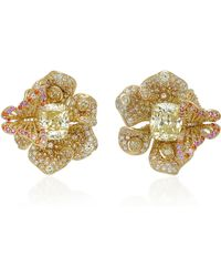 Anabela Chan - Exclusive Canary Peony Earrings - Lyst