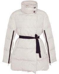 Dorothee Schumacher - Belted Zip-detailed Quilted-shell Jacket - Lyst