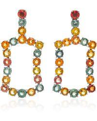 Jack Vartanian - Rhodium-plated 18k White Gold Sapphire Earrings - Lyst