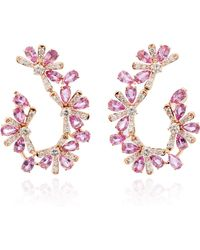 Hueb - Exclusive 18k Rose Gold, Sapphire And Diamond Earrings - Lyst