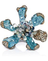 Arunashi - 18k Blackened Gold Aquamarine Wild Orchid Ring - Lyst