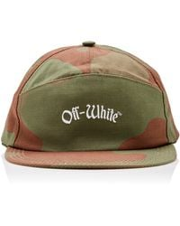 Off-White c/o Virgil Abloh - Embroidered Camouflage Cotton-canvas Baseball Cap - Lyst