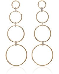 Mateo - Diamond Connecting Circle Drop Earrings - Lyst