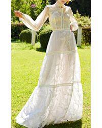 Costarellos Bridal - Embroidered Organza Dress - Lyst