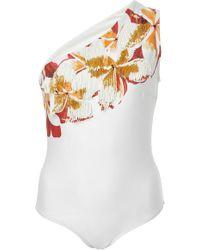 Agua de Coco - Jasmin Embroidered One Piece Swimsuit - Lyst