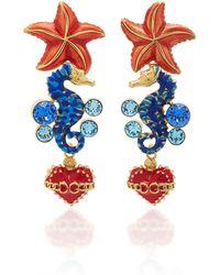 Dolce & Gabbana - Crystal Sea Horse Earrings - Lyst