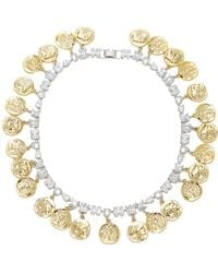 Fallon - Gold-tone Crystal Monarch Mykonos Collar Necklace - Lyst