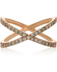 Eva Fehren - Shorty 18k Rose Gold And Diamond Ring - Lyst