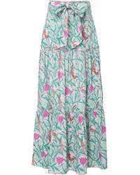 brand: Banjanan - Discovery Printed Cotton Maxi Skirt - Lyst