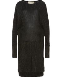 Elie Saab - Longline Metallic Knit Sweater - Lyst