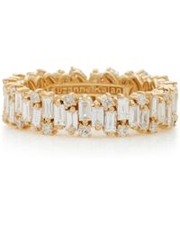 Suzanne Kalan - 18k Gold Diamond Ring - Lyst