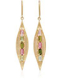 Jamie Wolf - 18k Gold Tourmaline Earrings - Lyst