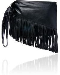 Isabel Marant - Farwo Fringe-trimmed Leather Pouch - Lyst