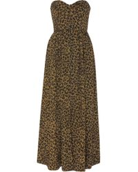 Mara Hoffman - Mercedes Cotton Animal-print Jumpsuit - Lyst