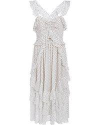 Marissa Webb - Kenzie Ruffle Midi Dress - Lyst