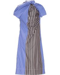 Marni | Paneled Stripe Dress | Lyst