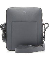Smythson - Panama Leather Messenger Bag - Lyst
