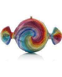 Judith Leiber - Candy Swirl Crystal Clutch - Lyst