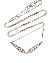 Jack Vartanian - 18k White Gold And Black Rhodium Light-brown Diamond Necklace - Lyst