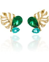 Anabela Chan - M'o Exclusive Emerald Palm Ear Studs - Lyst