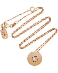 Carbon & Hyde - Discus 18k Rose Gold Diamond Necklace - Lyst