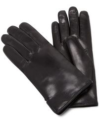 Maison Fabre | Black Leather And Rabbit Fur Gloves | Lyst